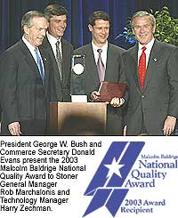 In 2003 Stoner Inc. became the smallest company ever to win the prestigious Malcolm Baldrige National Quality Award.