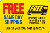 Save up to 20%! Free Shipping on orders within the continental United States